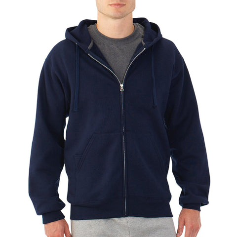 Fruit of the Loom Best Collection Men's Full Zip Hoodie Navy - 3XL - Top to Bottom Childrens Store