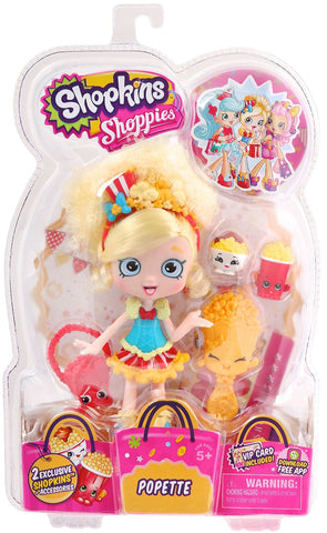 Shopkins Shoppies S1 Doll Pack, Popette - Top to Bottom Childrens Store