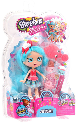 Shopkins Shoppies S1 Doll Pack, Jessicake - Top to Bottom Childrens Store
