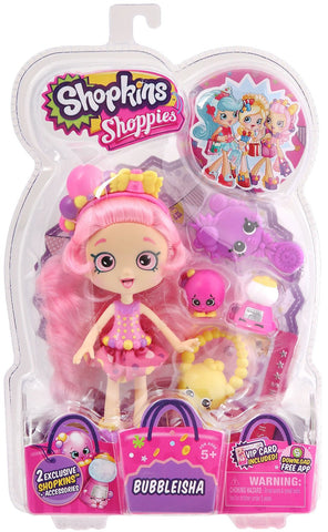 Shopkins Shoppies S1 Doll Pack, Bubbleisha - Top to Bottom Childrens Store