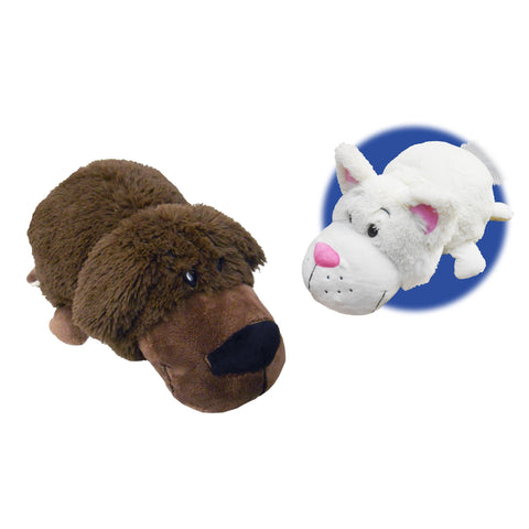 FLIP A ZOO - Labrador Dog to Cat 2-in-1 Stuffed Animal 16-inch FLIPAZOO - Top to Bottom Childrens Store