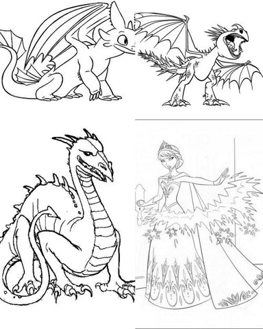 Free Gift Coloring Printable Frozen or Dragons for Girls and Boys with purchase. - Top to Bottom Childrens Store