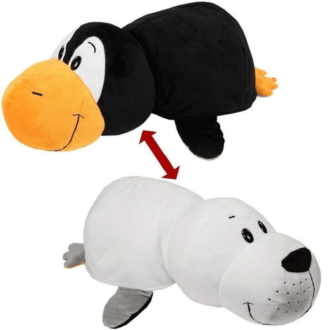 FLIP A ZOO - Penguin to Seal 2-in-1 Stuffed Animal 16-inch FLIPAZOO - Top to Bottom Childrens Store