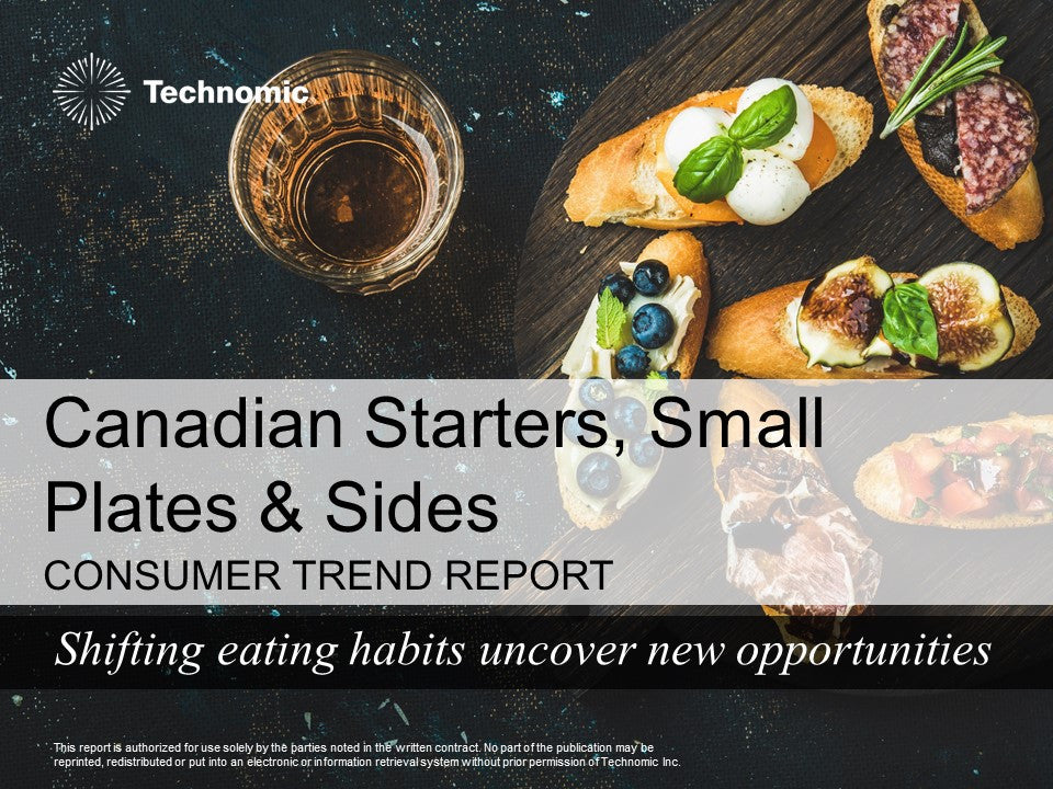 2017 Canadian Starters, Small Plates & Sides Consumer Trend Report