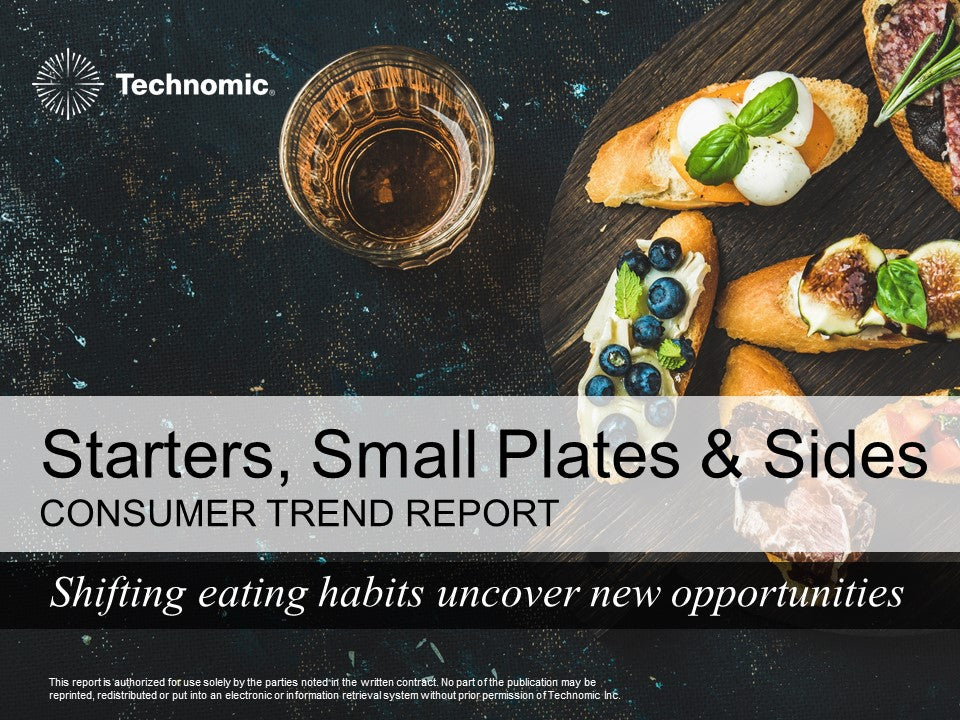 2017 Starters, Small Plates & Sides Consumer Trend Report