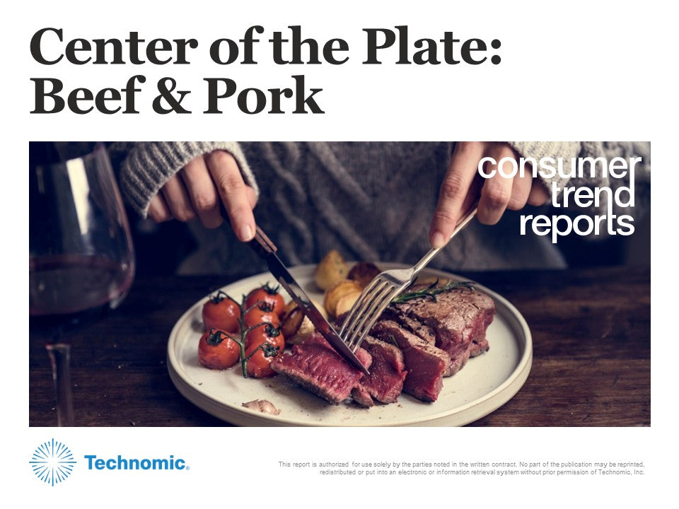 Center of the Plate: Beef & Pork Consumer Trend Report