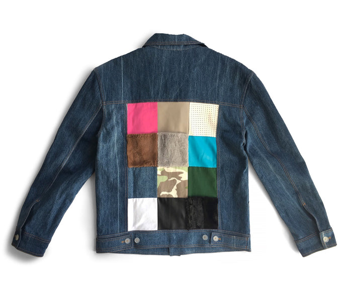 Gosha Rubchinskiy Stonewashed Denim Patchwork Jacket