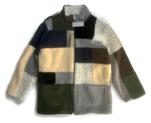 Load image into Gallery viewer, Gosha Rubchinskiy Faux-Fur Patchwork Coat