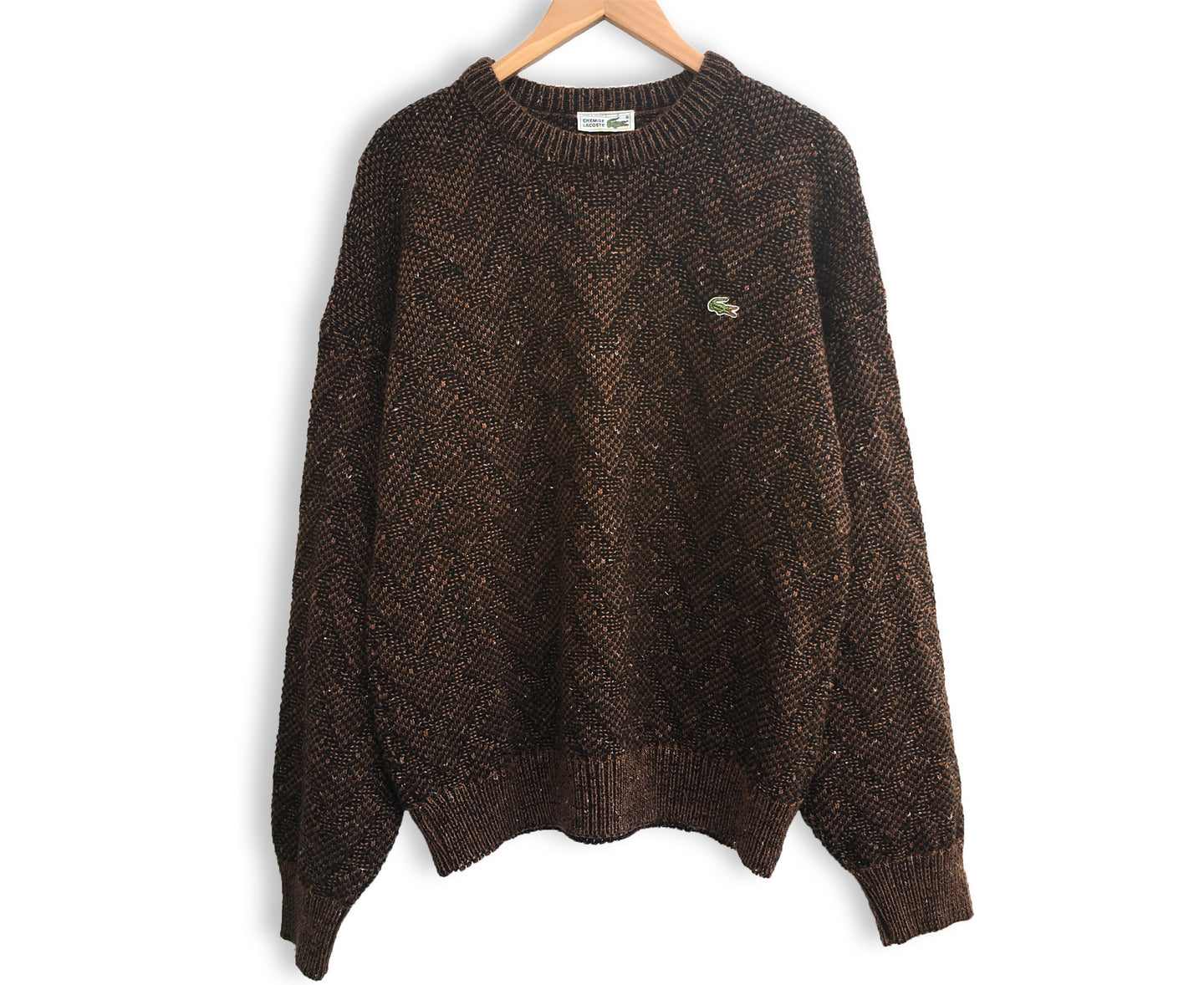Vintage Lacoste Brown Sweater