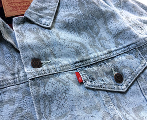 Supreme Levi's Denim Trucker Jacket Snakeskin
