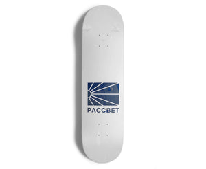 PACCBET Skateboard Deck White