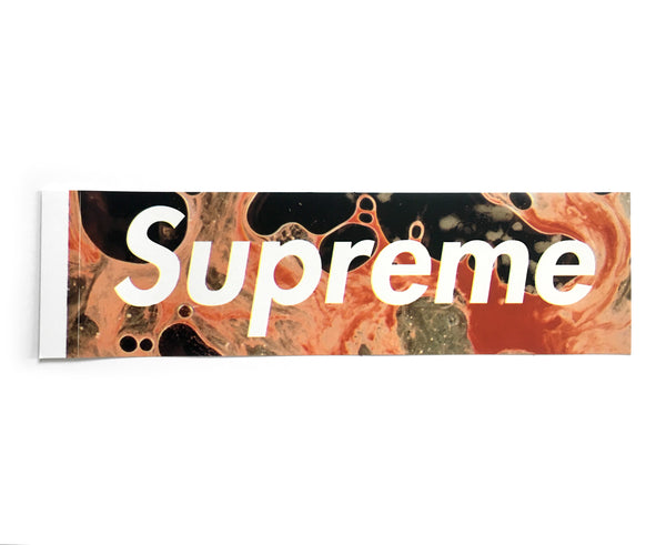 Supreme Blood and Semen Box Logo Sticker