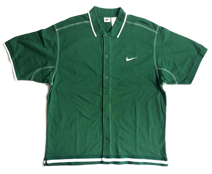 Vintage Nike Button Up T-Shirt