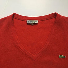 Load image into Gallery viewer, Vintage Lacoste Red V-Neck Sweater