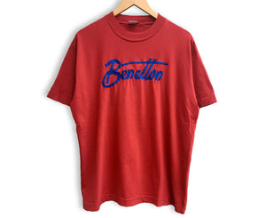 Vintage Benetton Embroidered Logo T-shirt