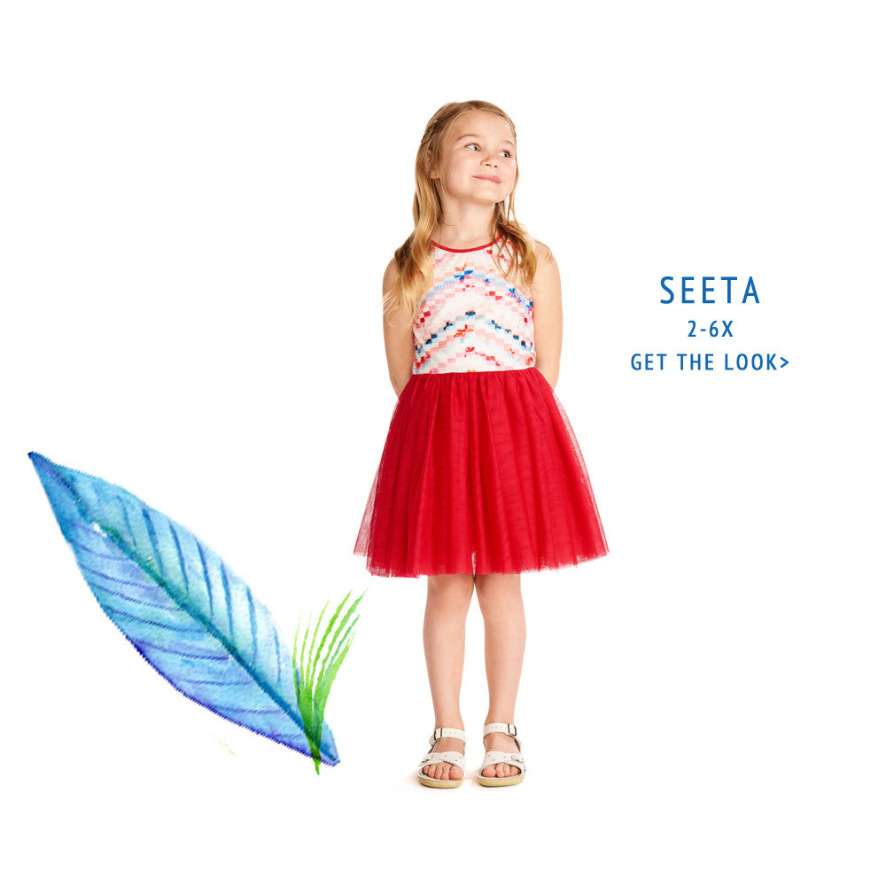 Seeta Bold Berry Tutu Dress