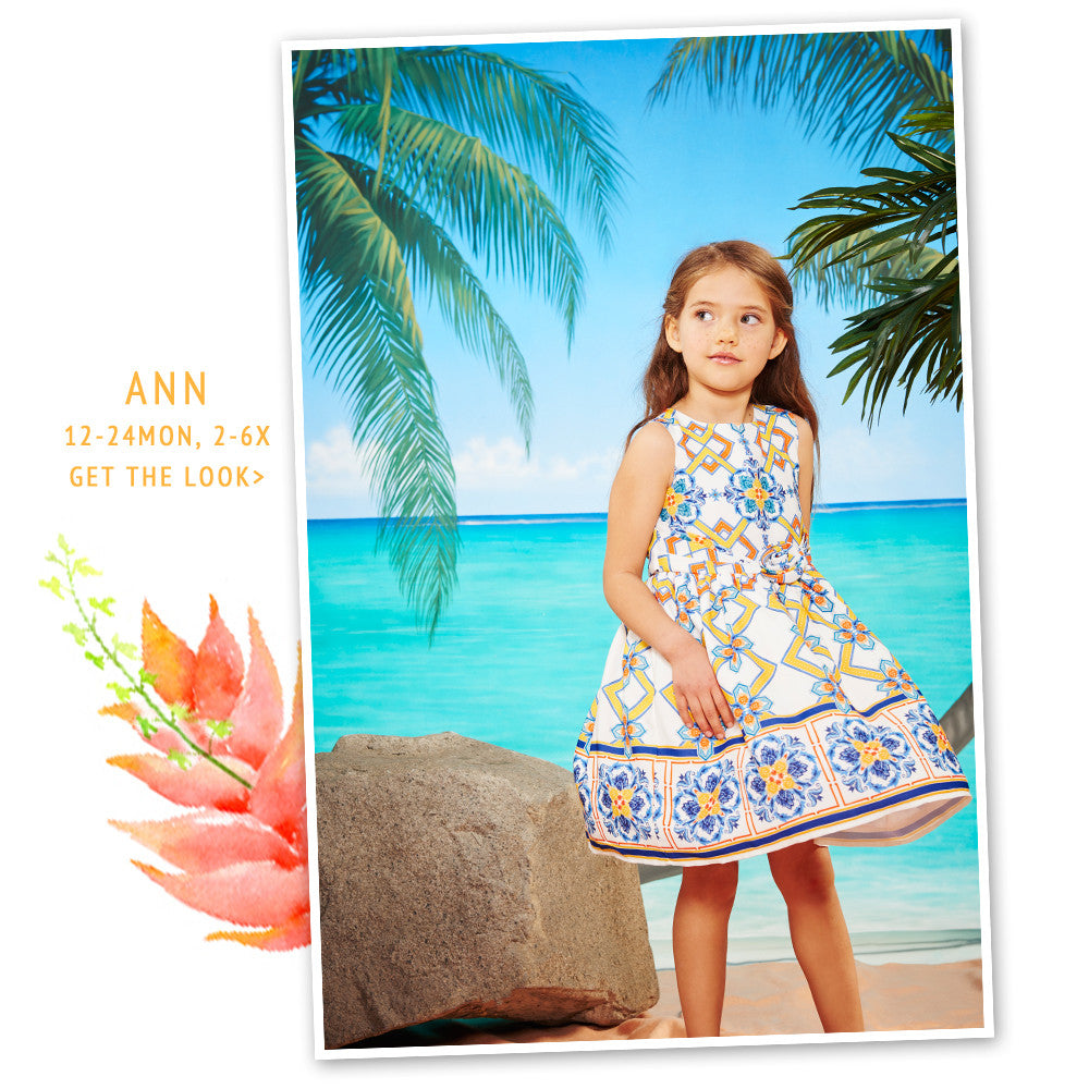Ann Tile Print Dress