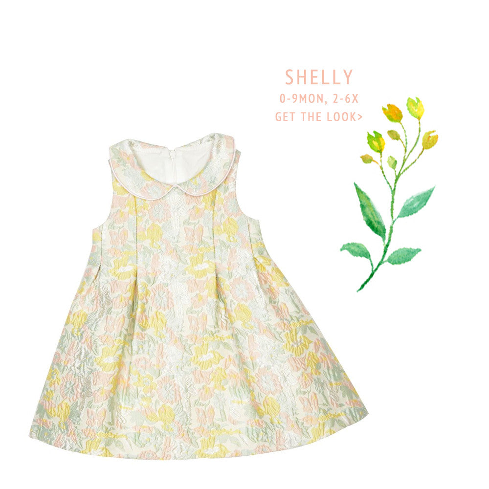 Shelly Brocade Dress