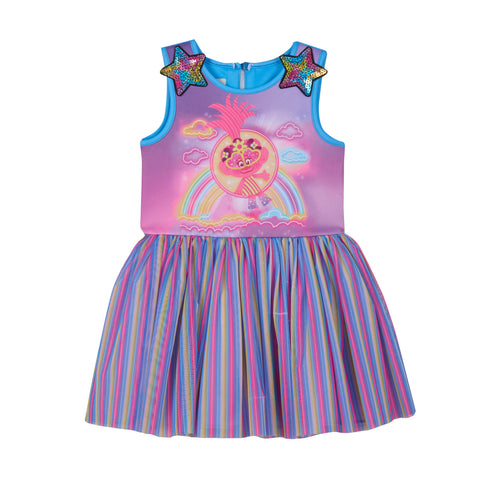 DreamWorks X Pippa & Julie Trolls Rainbow Dress