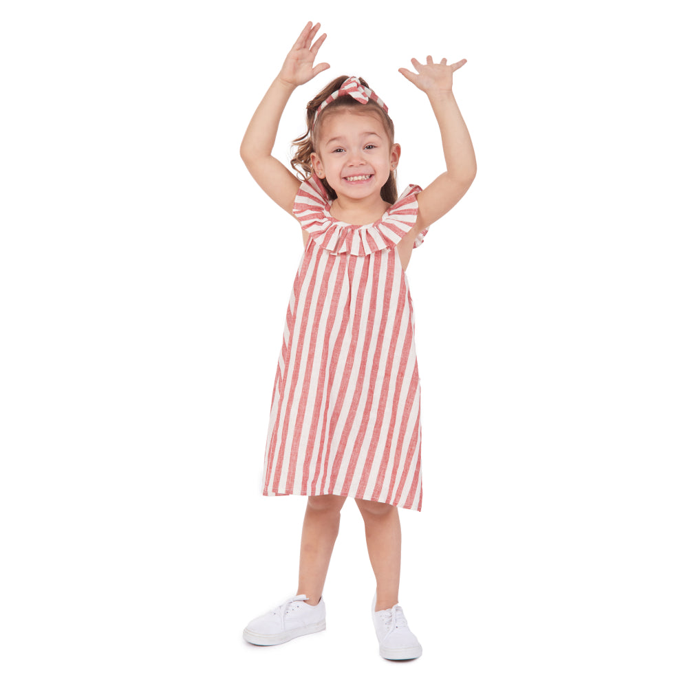 Delia Stripe Sundress & Headband Set