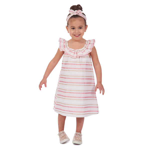 Delia Brocade Sundress & Headband Set