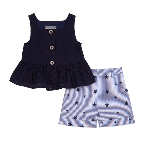 Tina Eyelet Star Short Set