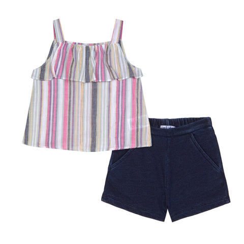 Adaline Stripe Short Set