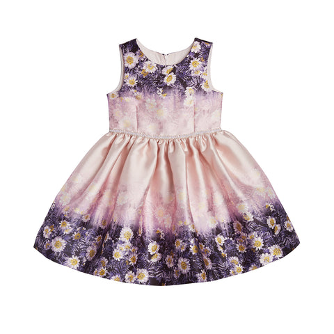 Danielle Floral Border Dress