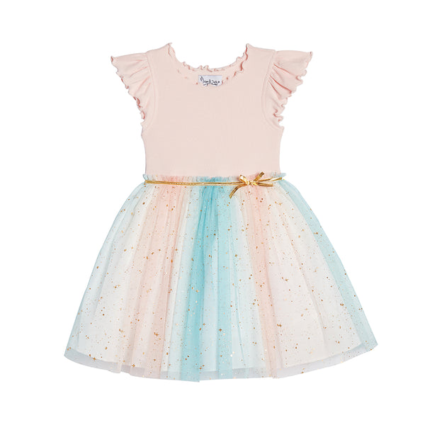 Daisy Pink Rainbow Dress