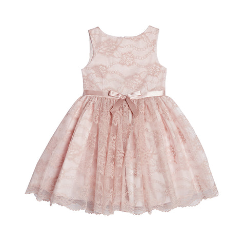 Sandrine Blush Lace Dress