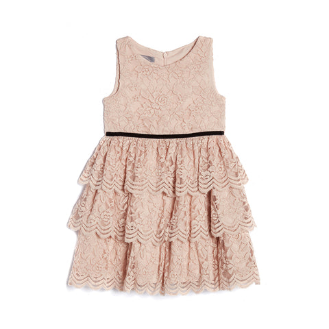 Kamila Blush Tiered Dress