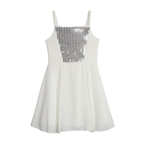 Aubree White Sequin Dress