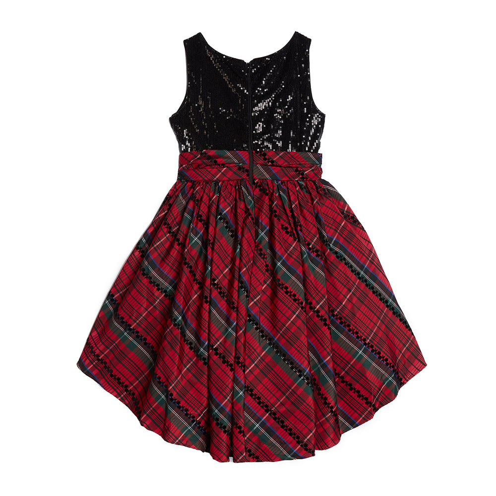 Alicia Plaid Taffeta Dress