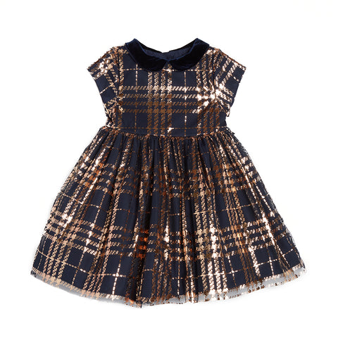 Debra Foil Plaid Dress (Pre-Order)