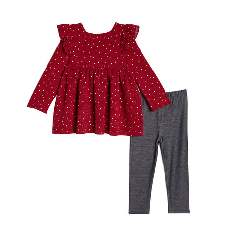 Krystal Red Dots Legging Set (Pre-Order)