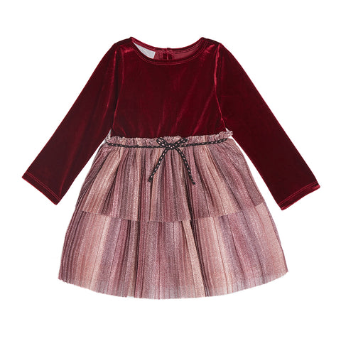 Finley Burgundy Velvet Dress