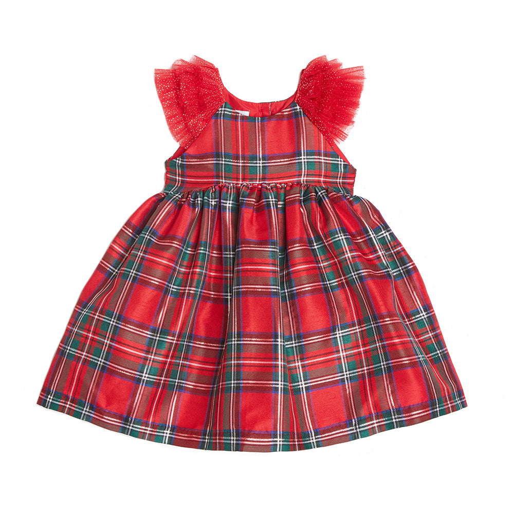 Fernanda Red Plaid Dress