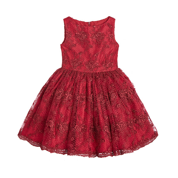 Sandrine Red Lace Dress