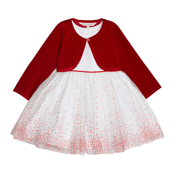 Abby Glitter Dot Jacket Dress