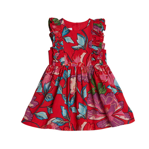 Tess Red Floral Dress