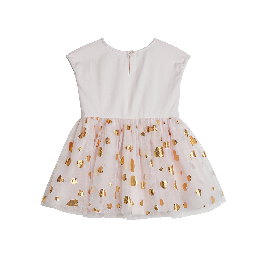 Elsie Gold Heart Dress