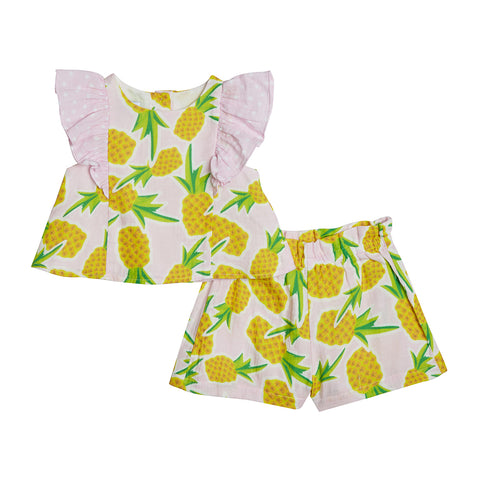 Kaia Pineapple Print Short Set