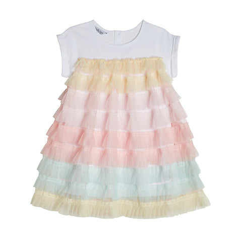 Luna Pastel Ruffle Dress