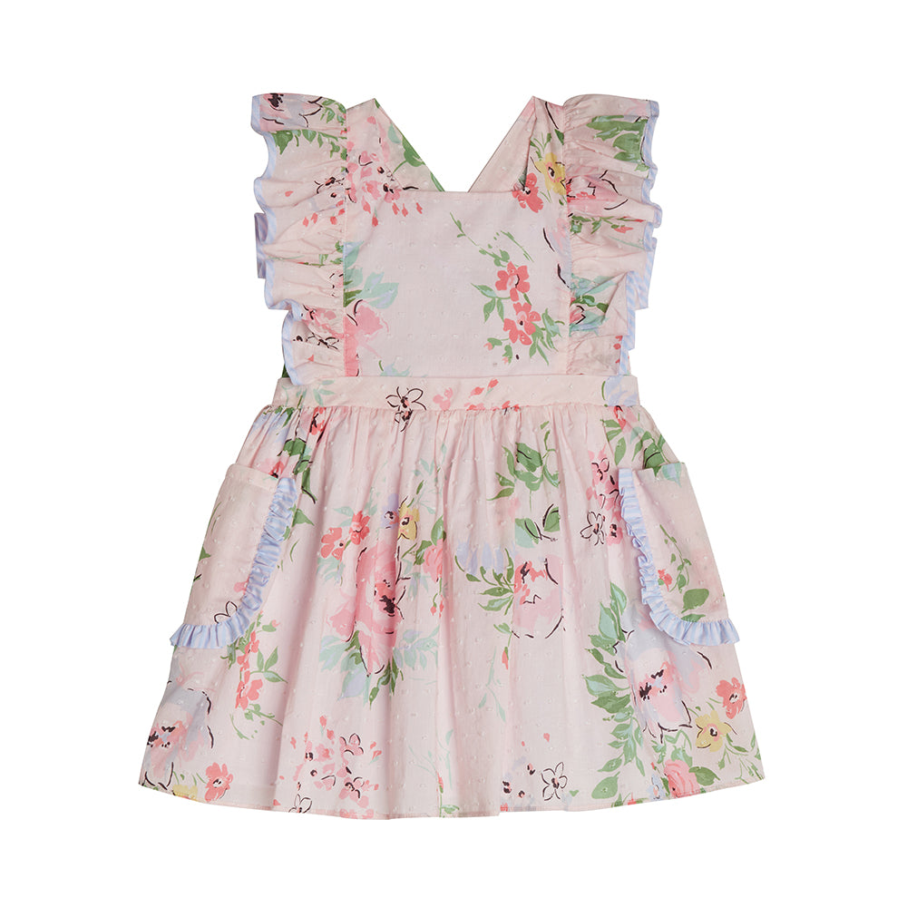 Casey Pink Pinafore Dress