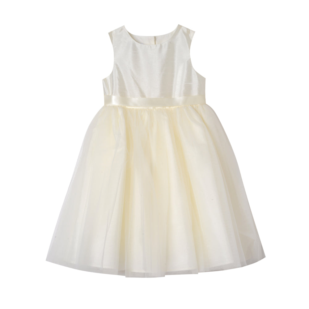 Saraphine Ivory Shantung Dress (Big Girl 7-14)