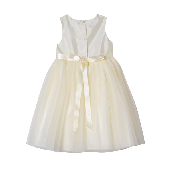 Saraphine Ivory Shantung Dress (Little Girl 2T-6X)