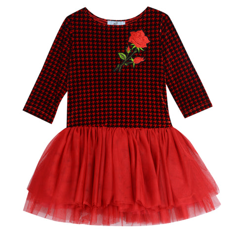 Carli Houndstooth Tutu Dress