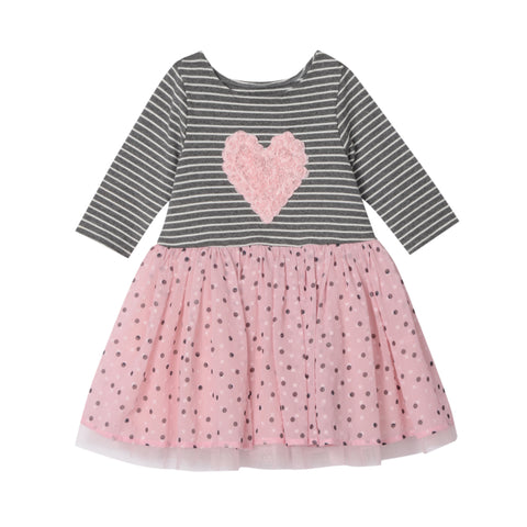 Carli Stripe Heart Dress