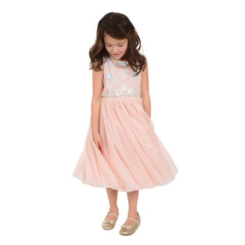 Lily Peach Floral Popover Dress
