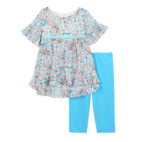 Shoshanna Blue Print Legging Set